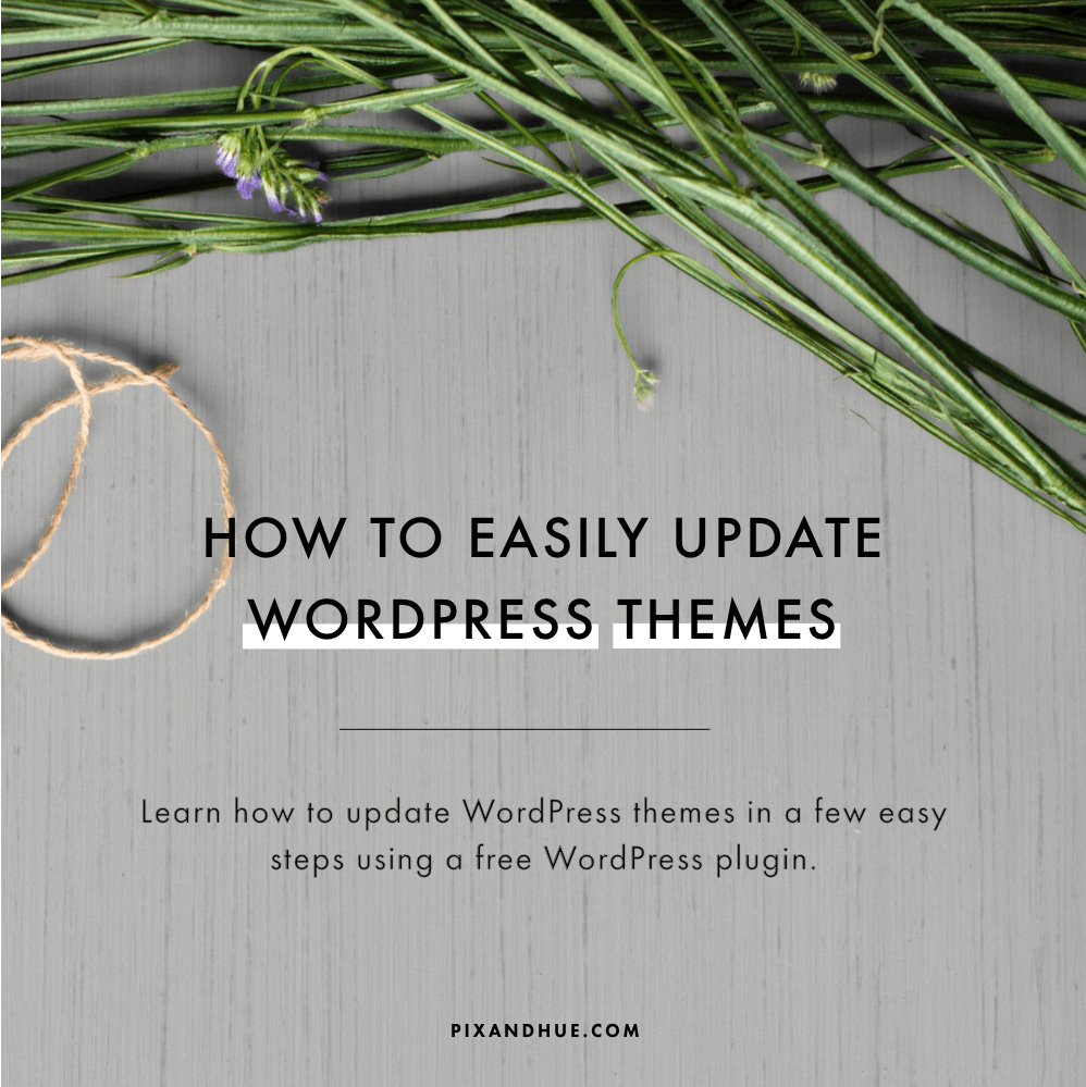how to update wordpress themes